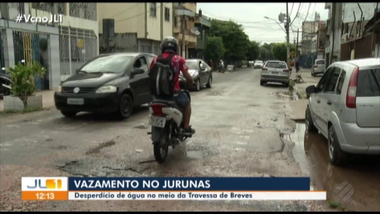 Moradores do Jurunas reclamam de vazamento na rua Breves