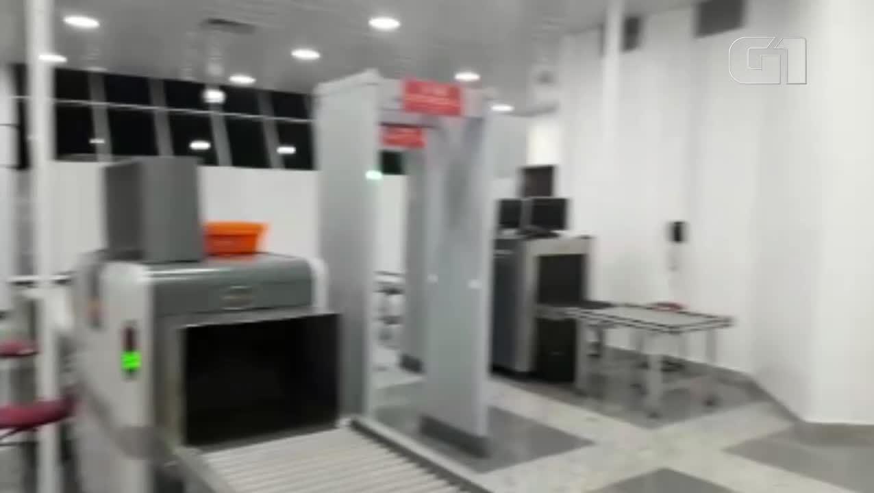 Vídeo mostra novo local de inspeção e embarque no aeroporto de Belém