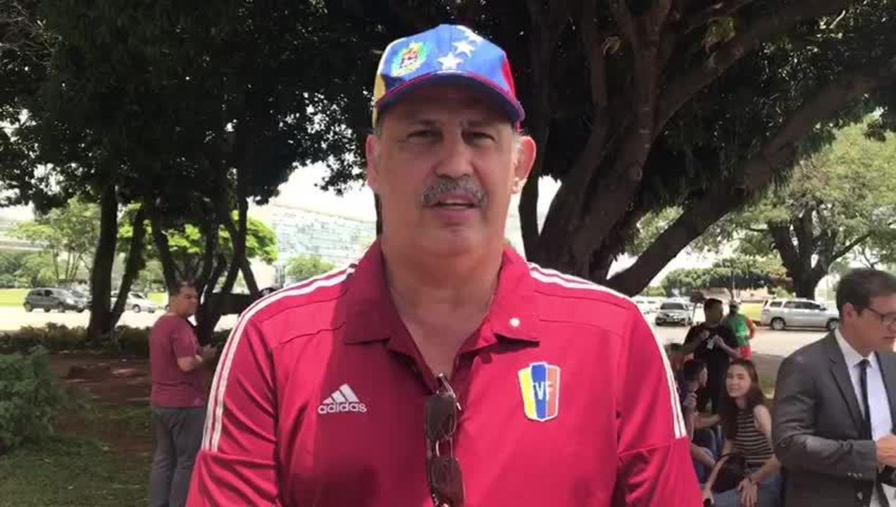 Alberto Palombo, do movimento 'Soy Venezuela' no Brasil, estava no protesto contra Maduro.