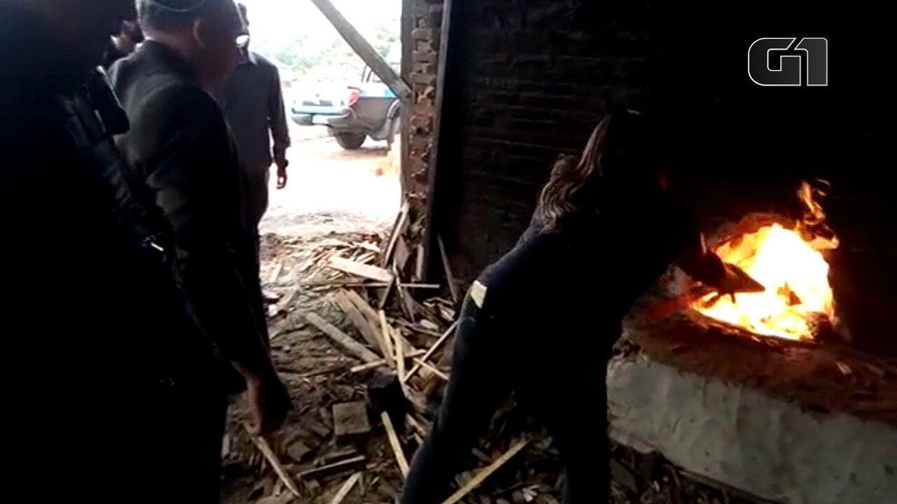 Incineração de entorpecentes em Oriximiná