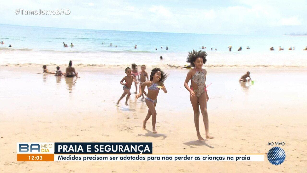 Salvamar adota medidas para pais não perderem crianças nas praias de de Salvador