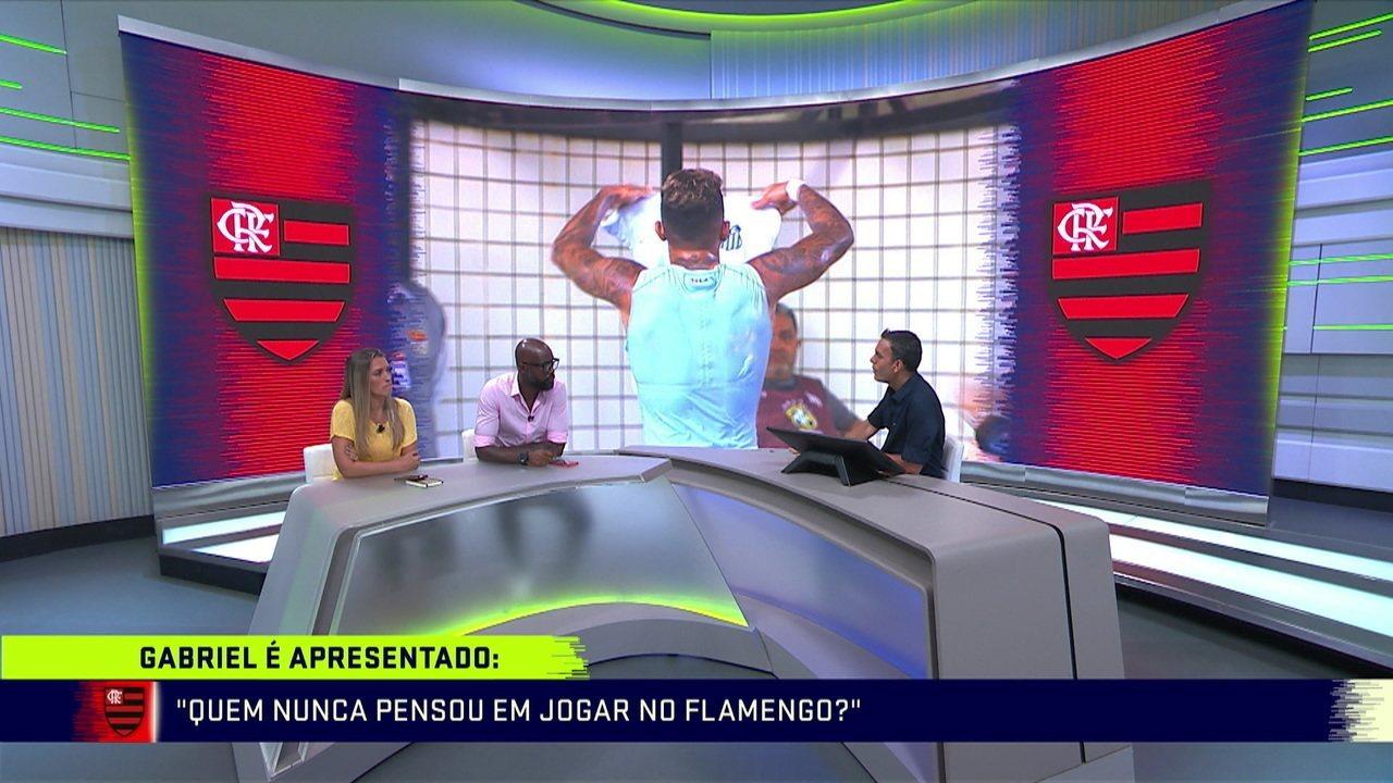 Gabigol é apresentado ao Flamengo e comentaristas analisam se jogador se encaixa no time Rubro Negro