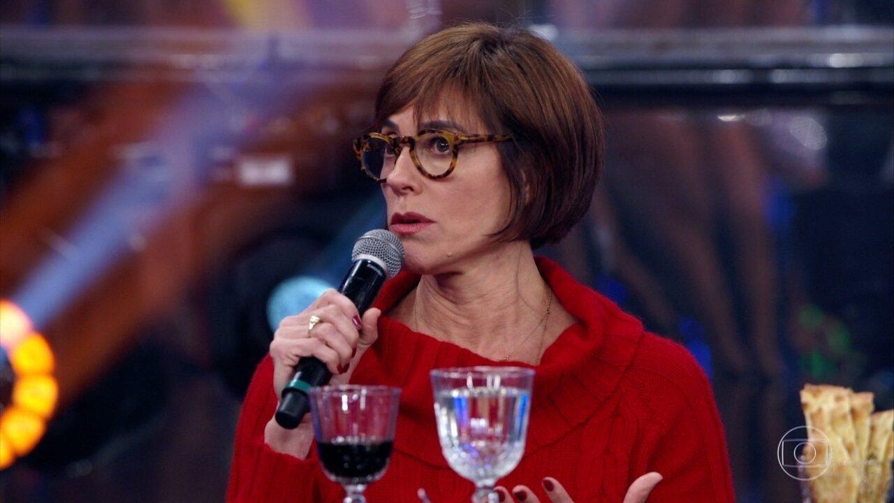 Christiane Torloni fala sobre desafios em sua carreira e revive emoções no 'Domingão'