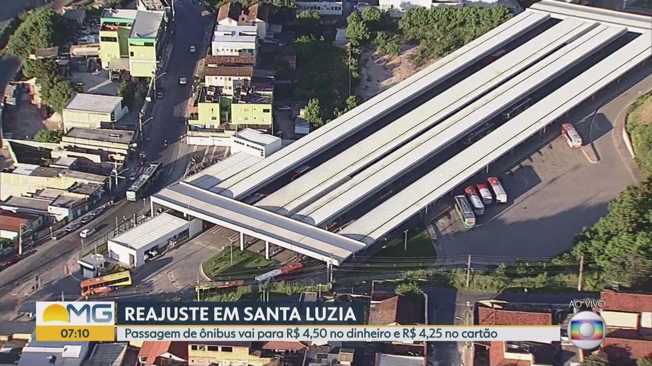 Reajuste da tarifa de ônibus de Santa Luzia, na Grande BH, são reajustadas em quase 20%