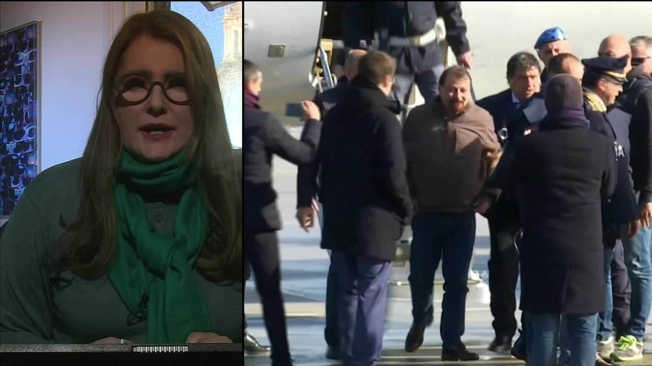 Cesare Battisti chega à Itália com forte esquema de segurança