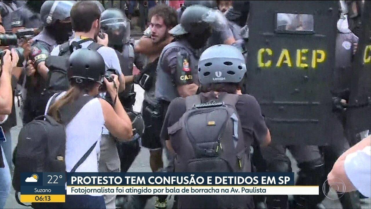 Protesto contra aumento das tarifas de transporte tem confusão em SP