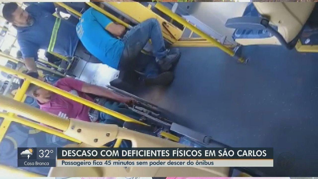 Resultado de imagem para Ônibus de São Carlos têm problemas de acessibilidade para pessoas com deficiência