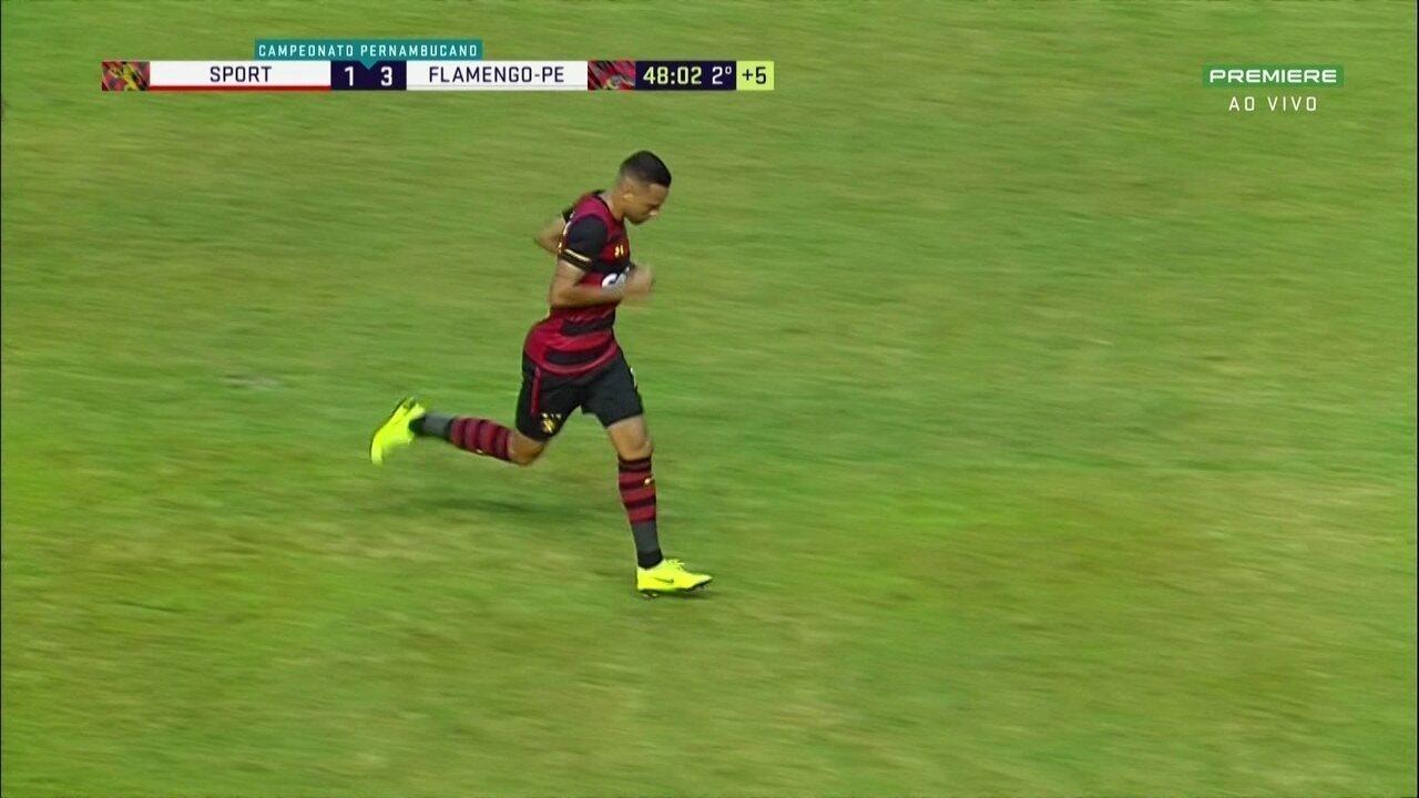 Marcou um golaço logo na estreia, mas não evitou a derrota do Sport