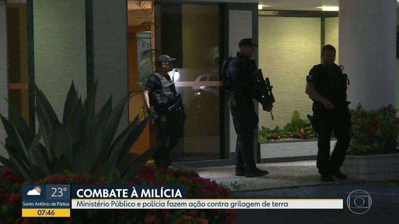 Ministério Público e Polícia realizam operação contra milícia e grilagem de terras