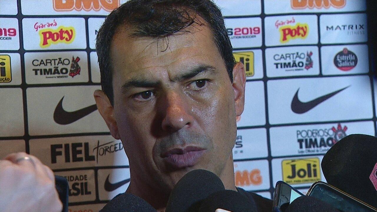Veja trecho da entrevista de Fábio Carille, do Corinthians, após derrota para o Guarani