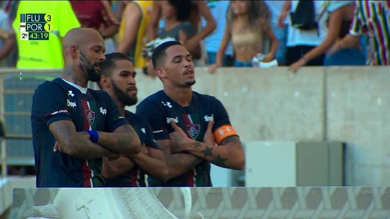Os gols de Fluminense 3 x 1 Portuguesa-RJ pela 3ª rodada do Cariocão
