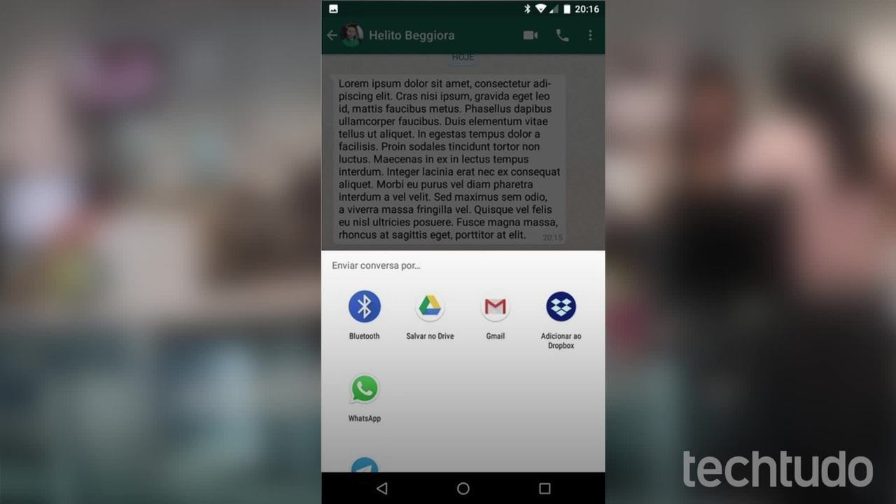 Como imprimir uma conversa no WhatsApp
