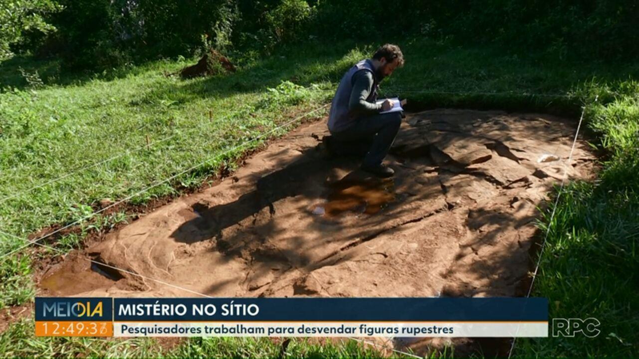 Pesquisadores trabalham para desvendar figuras rupestres em Capitão Leônidas Marques