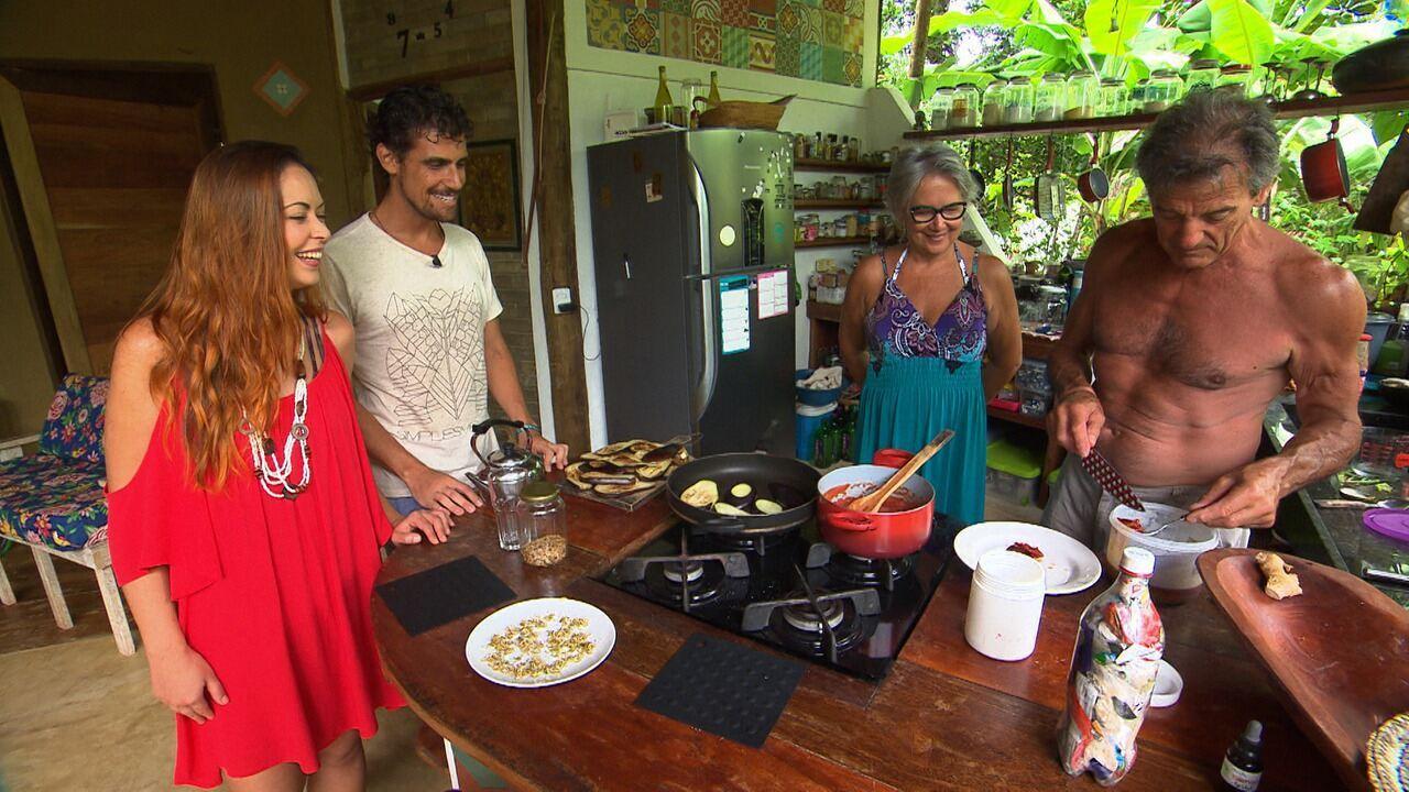 Briza visita a comunidade autossustentável Inkiri, em Piracanga
