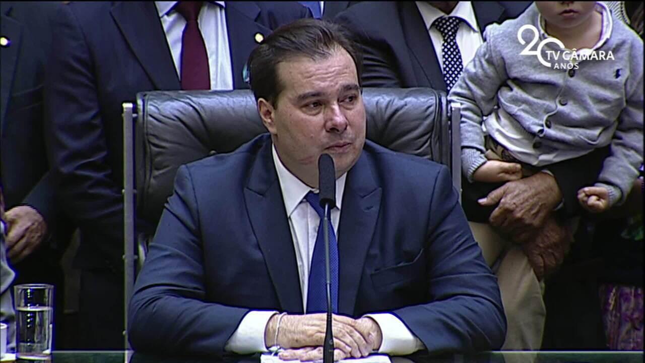Deputado Rodrigo Maia é eleito presidente da Câmara