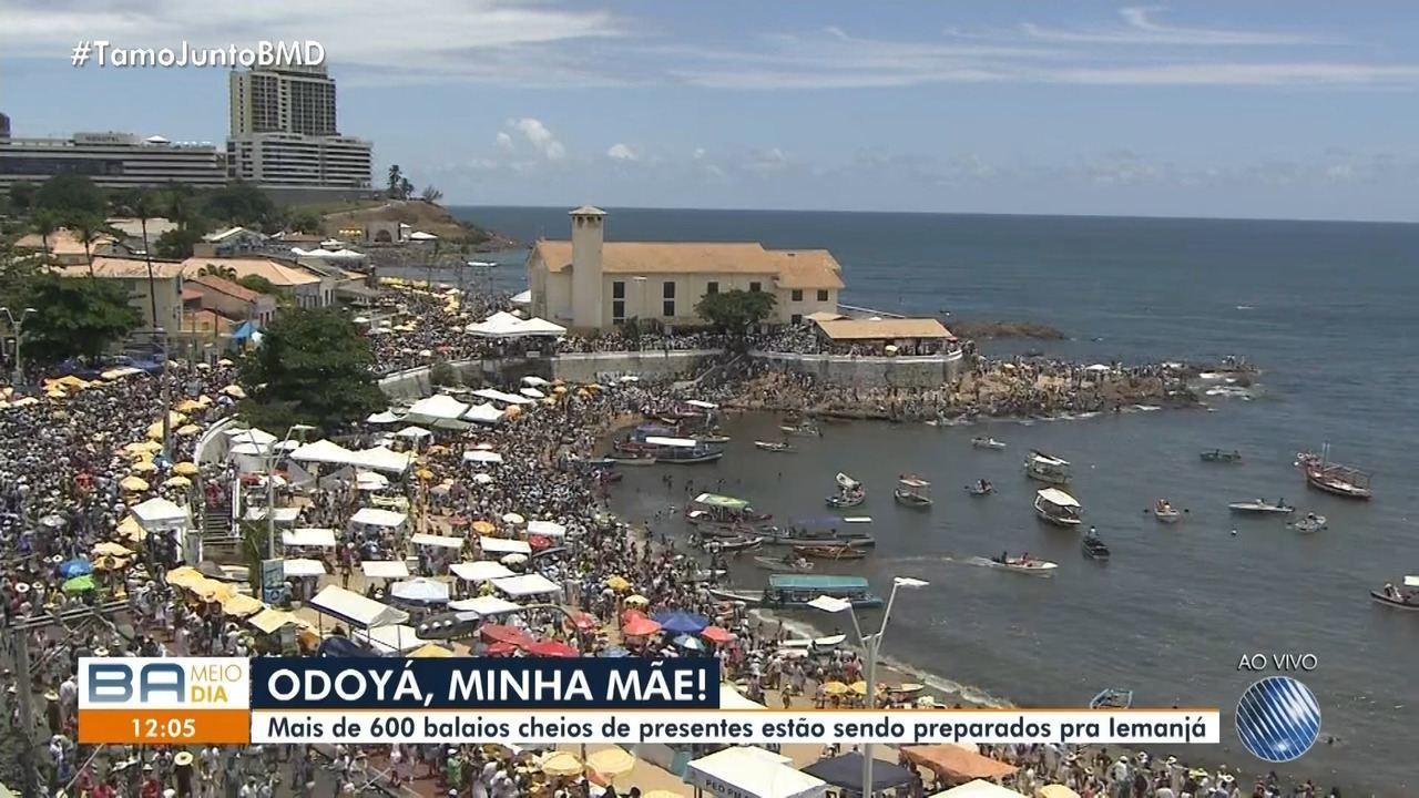 Especial 2 de fevereiro: baianos e turistas celebram o Dia de Iemanjá no Rio Vermelho