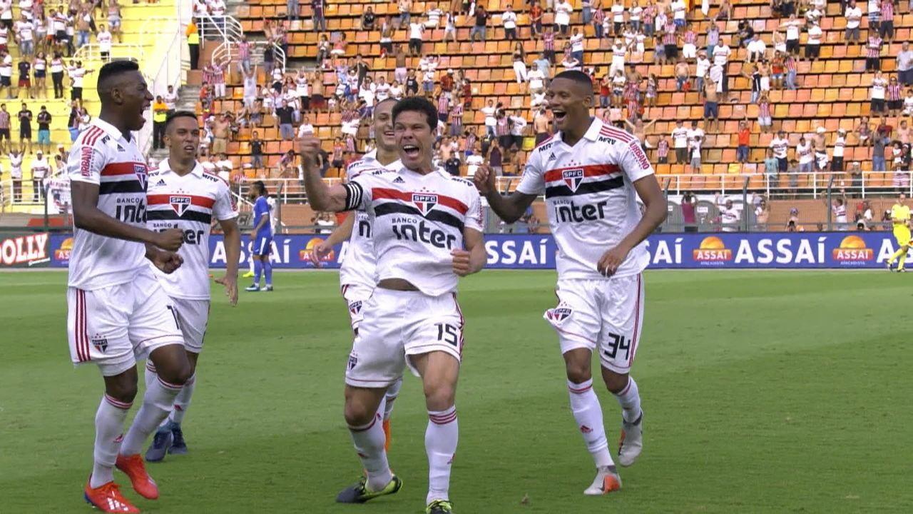 O gol de São Paulo 1 x 0 São Bento pela 5ª rodada do Campeonato Paulista