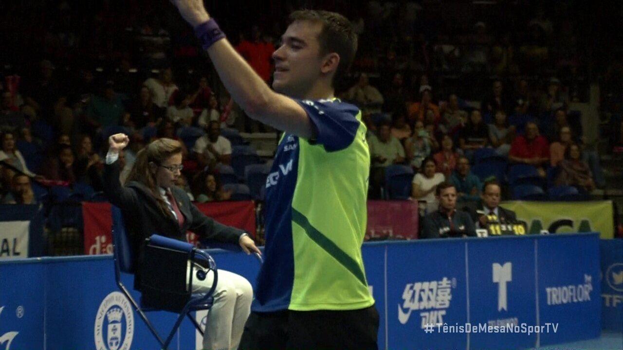 Hugo Calderano vence americano e conquista a Copa Pan-Americana de tênis de mesa