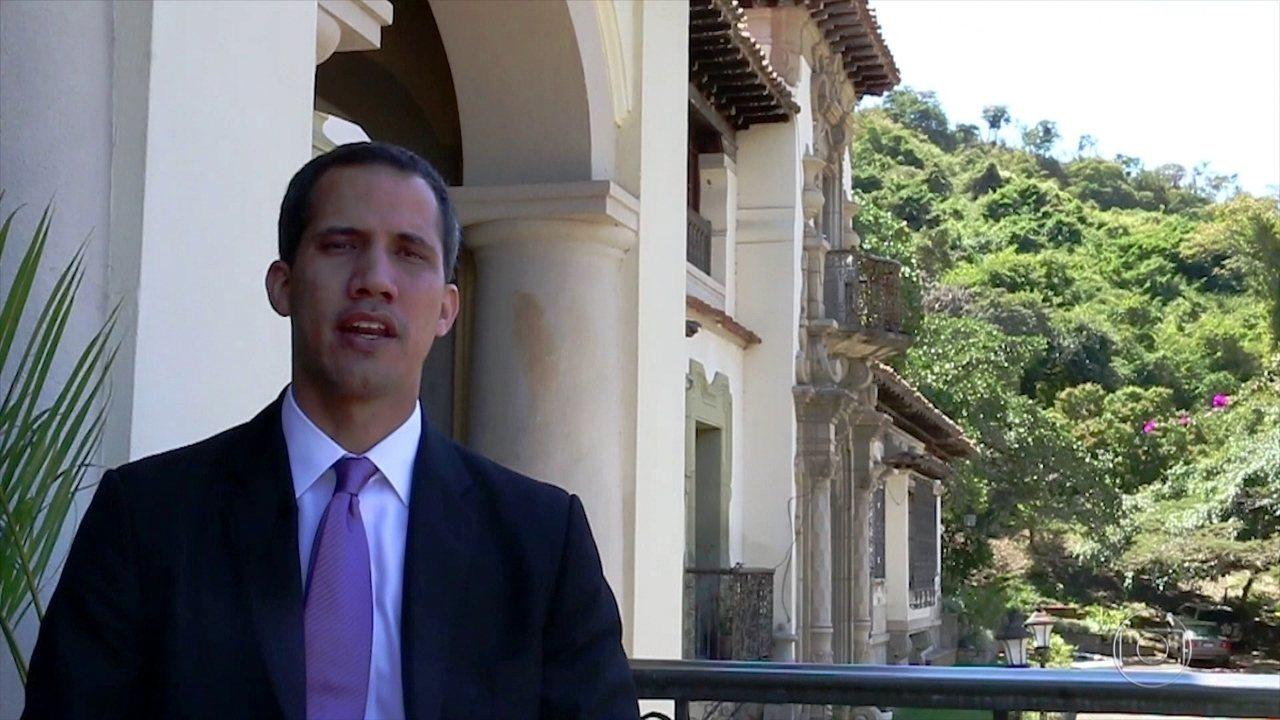 Juan Guaidó e a família falam com exclusividade ao Fantástico