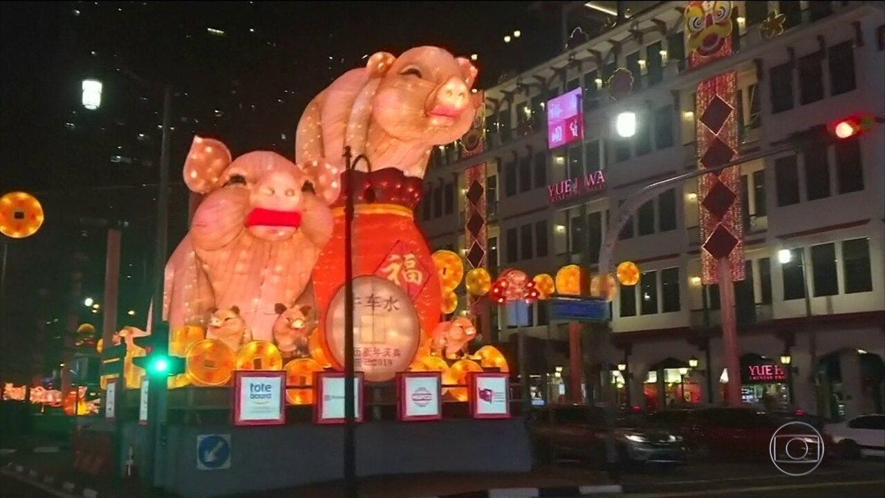 Ano novo lunar começa nesta terça (5) no calendário chinês
