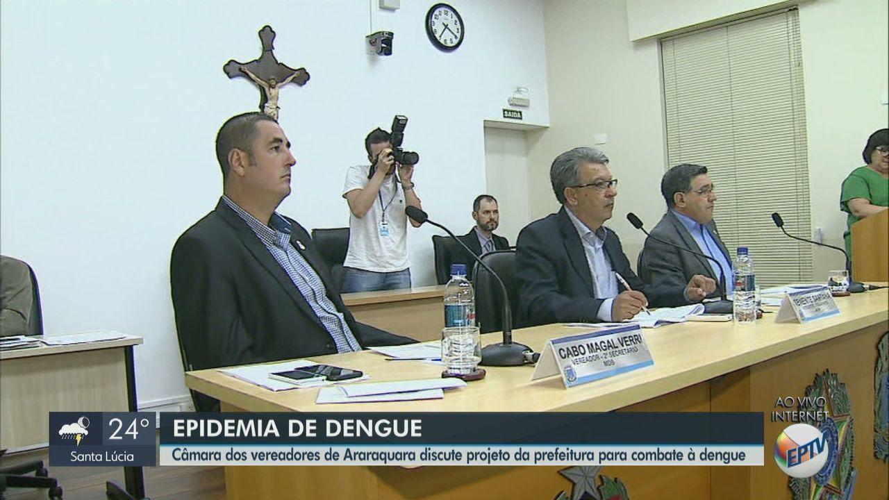 Câmara dos Vereadores de Araraquara discute projeto da prefeitura para combate à dengue