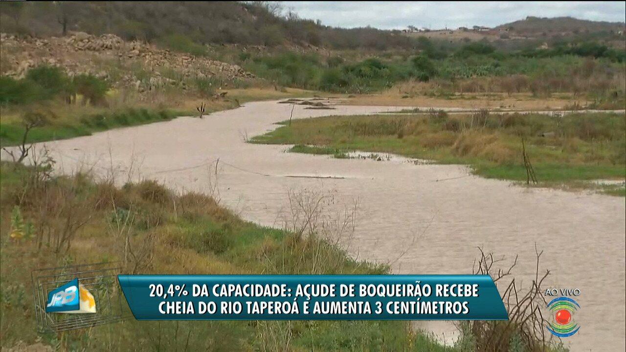 Volume de Boqueirão aumenta com chegada das chuvas