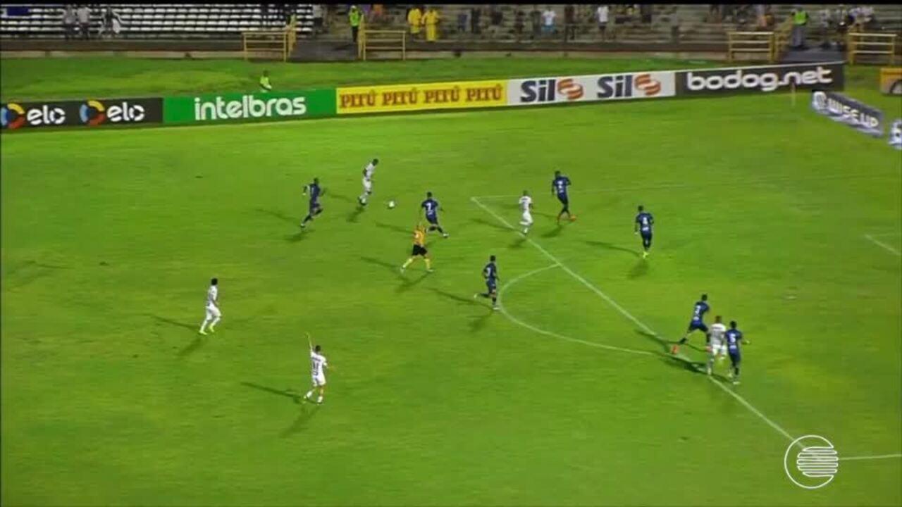 Altos é goleado por 7 a 1 pelo Santos no Albertão