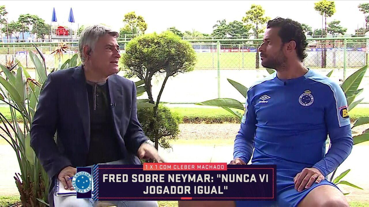 3e9ef2e760b20 Cléber Machado entrevista Fred