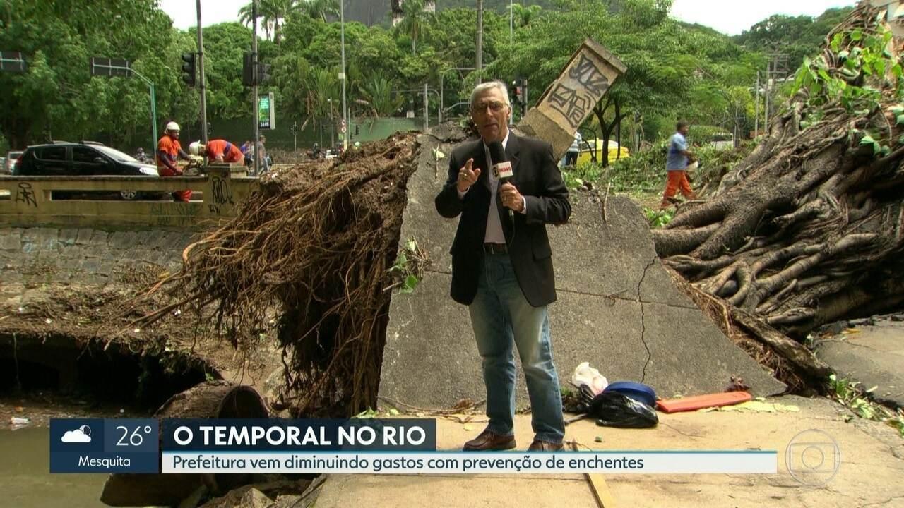 Prefeitura tem gastado menos com prevenção de enchentes nos últimos anos
