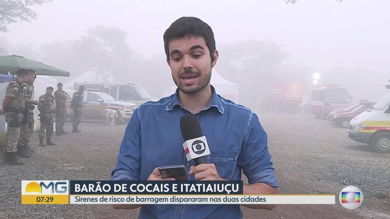 Itatiaiuçu e Barão de Cocais tem alerta para retirada de pessoas por causa de barragens