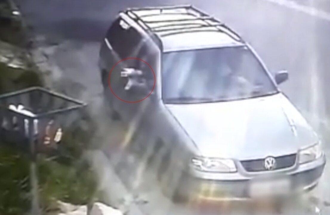 Internauta registra filhote cachorro doente sendo arremessado da janela de carro em Mogi