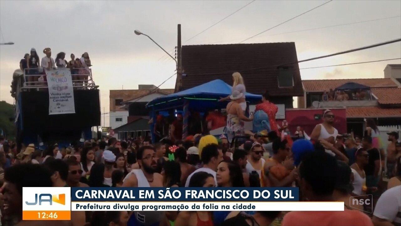 Prefeitura divulga programação do carnaval em São Francisco do Sul