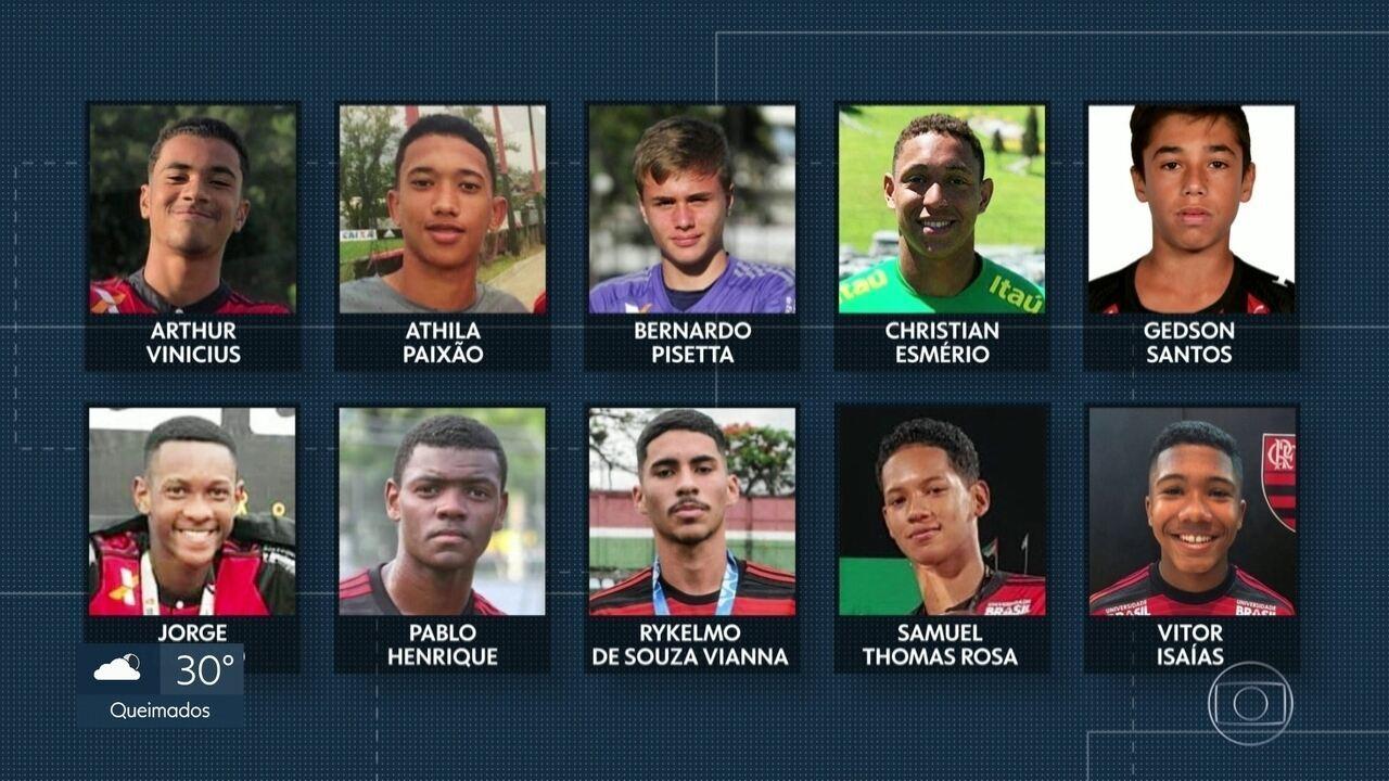 Parentes e amigos falam do talento e do sonho dos jovens atletas do Flamengo mortos