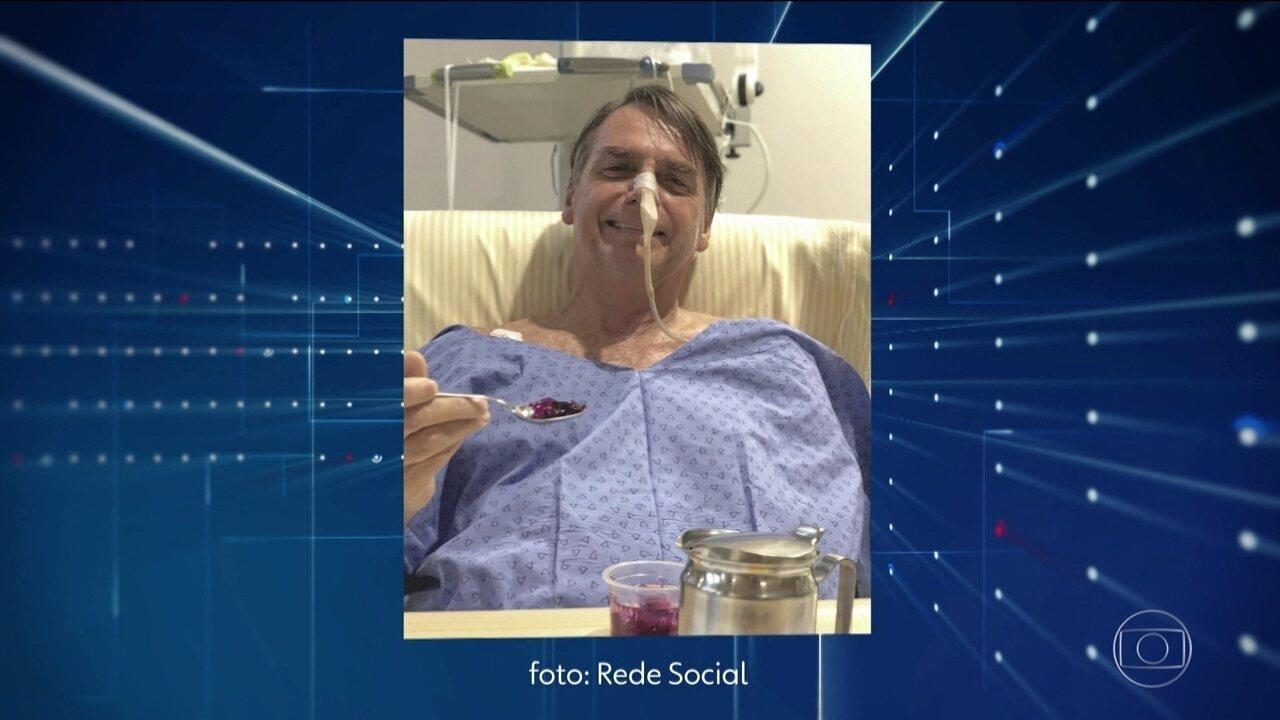 Bolsonaro melhora e médicos retiram dreno se sonda nasogástrica