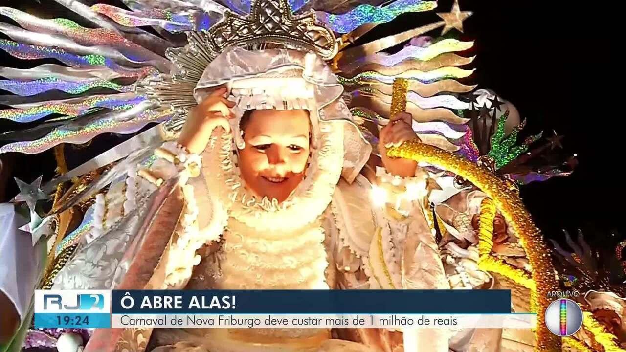 Carnaval de Nova Friburgo, RJ, deve custar mais de R$ 1 milhão