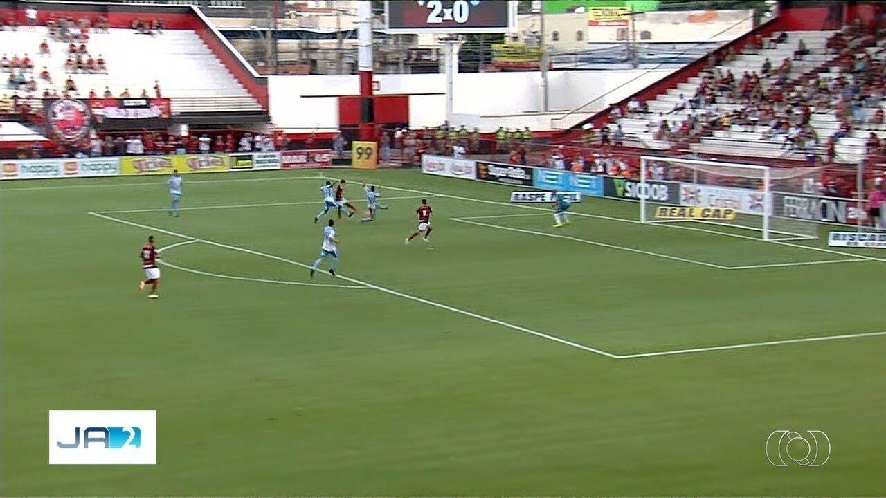Os gols da vitória do Atlético-GO sobre o Crac por 3 a 1