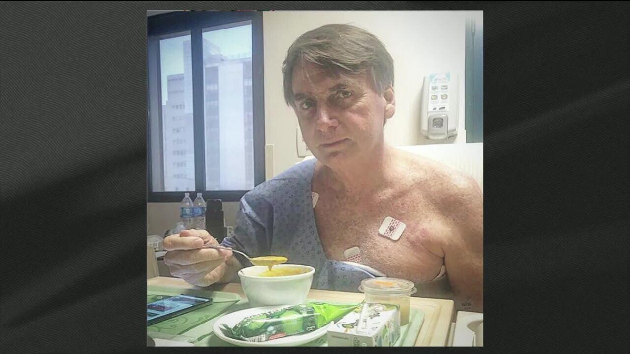 """Sem dreno e sonda, Bolsonaro começa """"dieta cremosa"""", dizem médicos"""