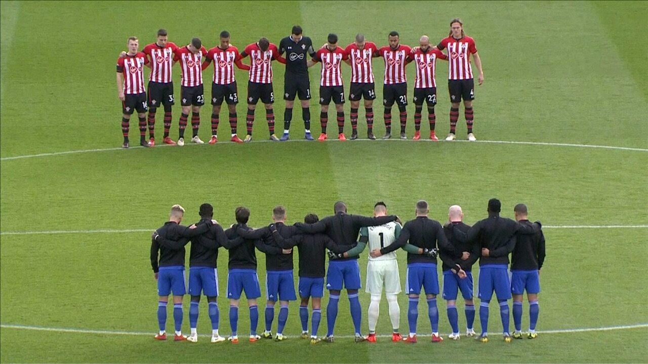 Minuto de silêncio antes de Southampton x Cardiff, em homenagem a Emiliano Sala