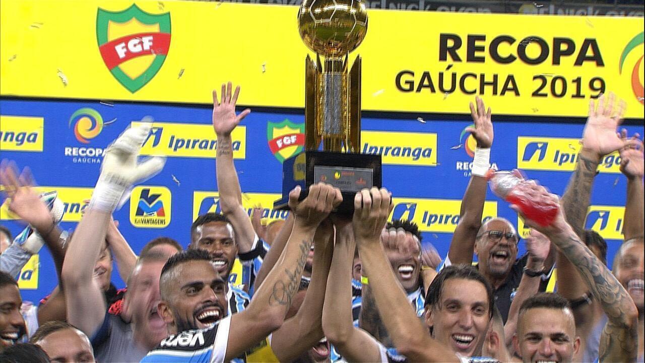 Grêmio goleia o Avenida por 6 a 0 e conquista a Recopa Gaúcha 2019