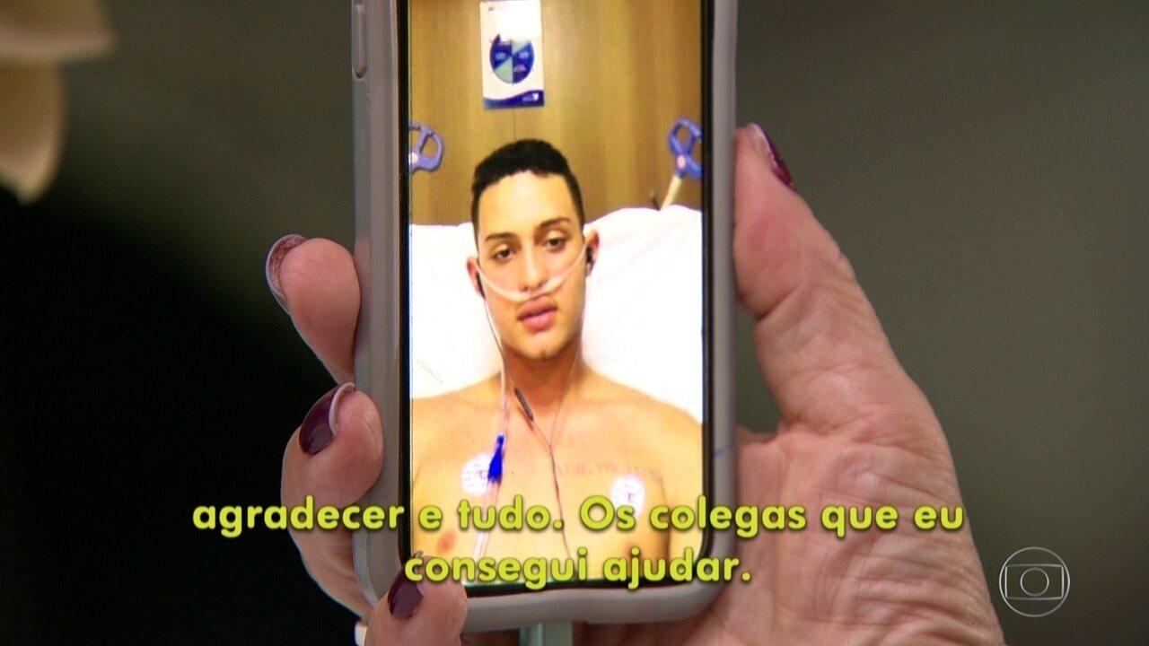 Fantástico conversa com dois sobreviventes do incêndio no CT do Flamengo