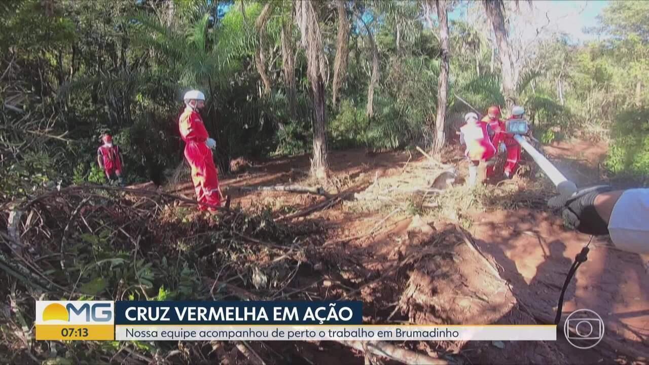 Bom Dia Minas mostra os trabalhos da equipe da Cruz Vermelha nos resgate de Brumadinho