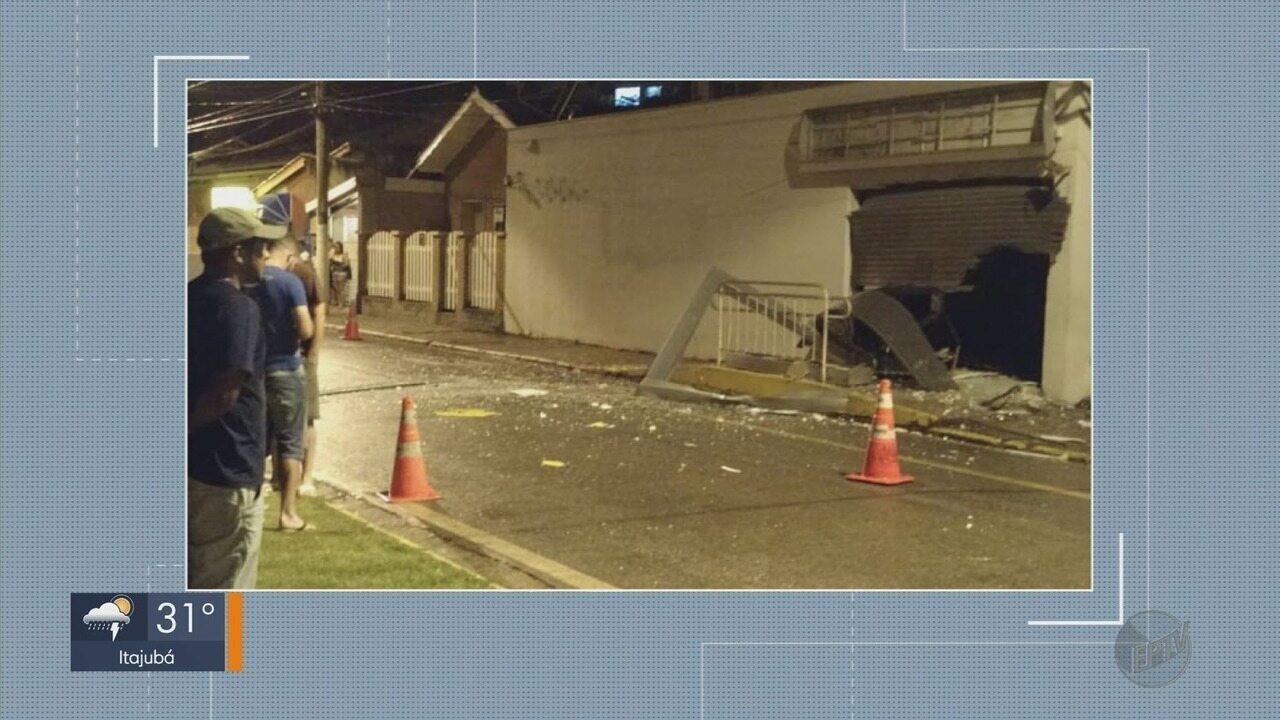 Criminosos explodem agência bancária em Sapucaí Mirim (MG)