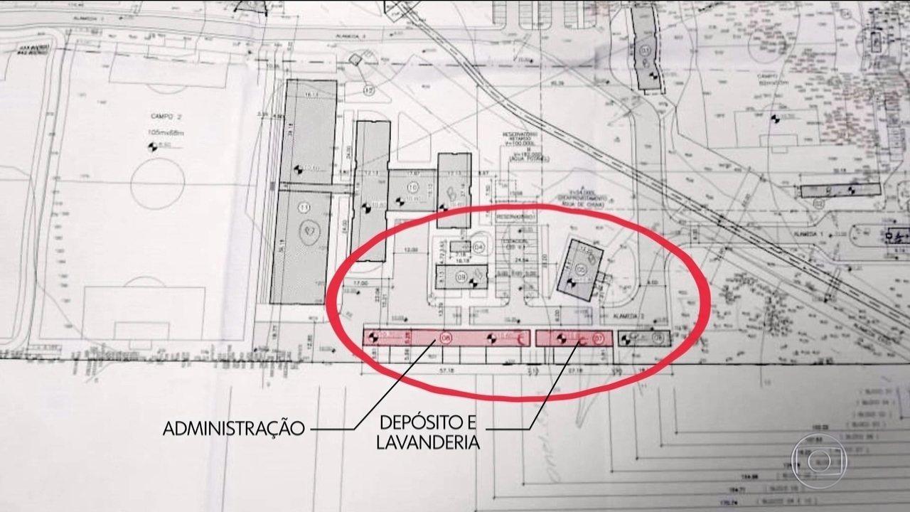 Projetos do CT do Flamengo enviados à prefeitura não previam alojamentos