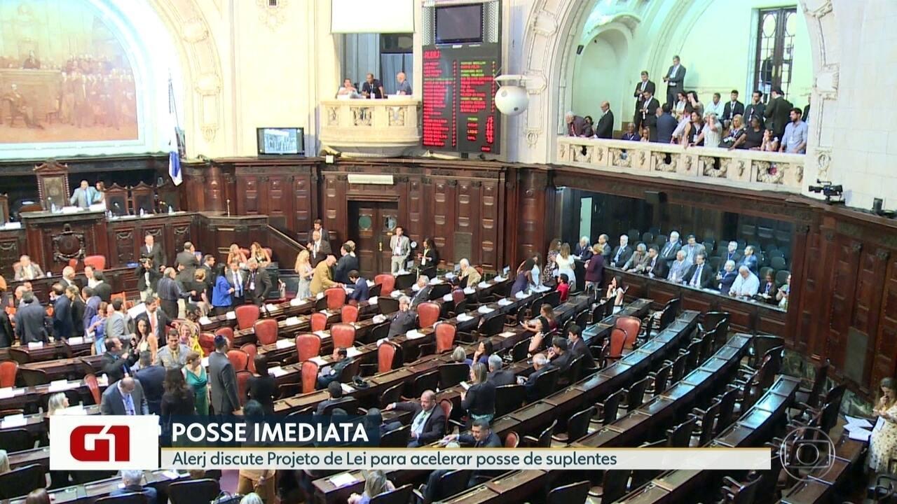 G1 no Bom Dia RJ: Alerj discute projeto de lei para acelerar posse de suplentes