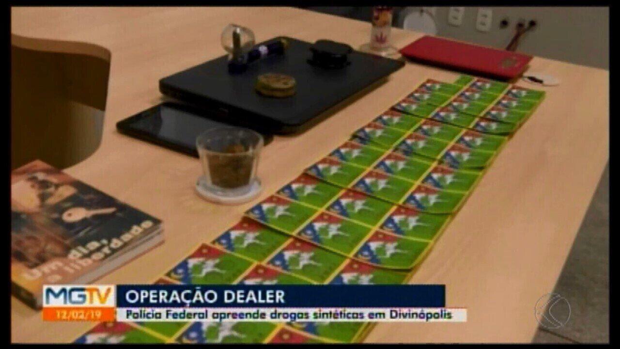 Drogas são apreendidas em operação da PF contra tráfico pela internet em Divinópolis