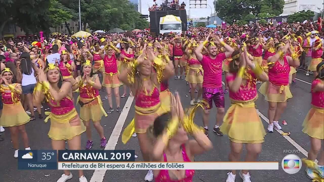 Prefeitura de Belo Horizonte espera 4,6 milhões de foliões neste carnaval