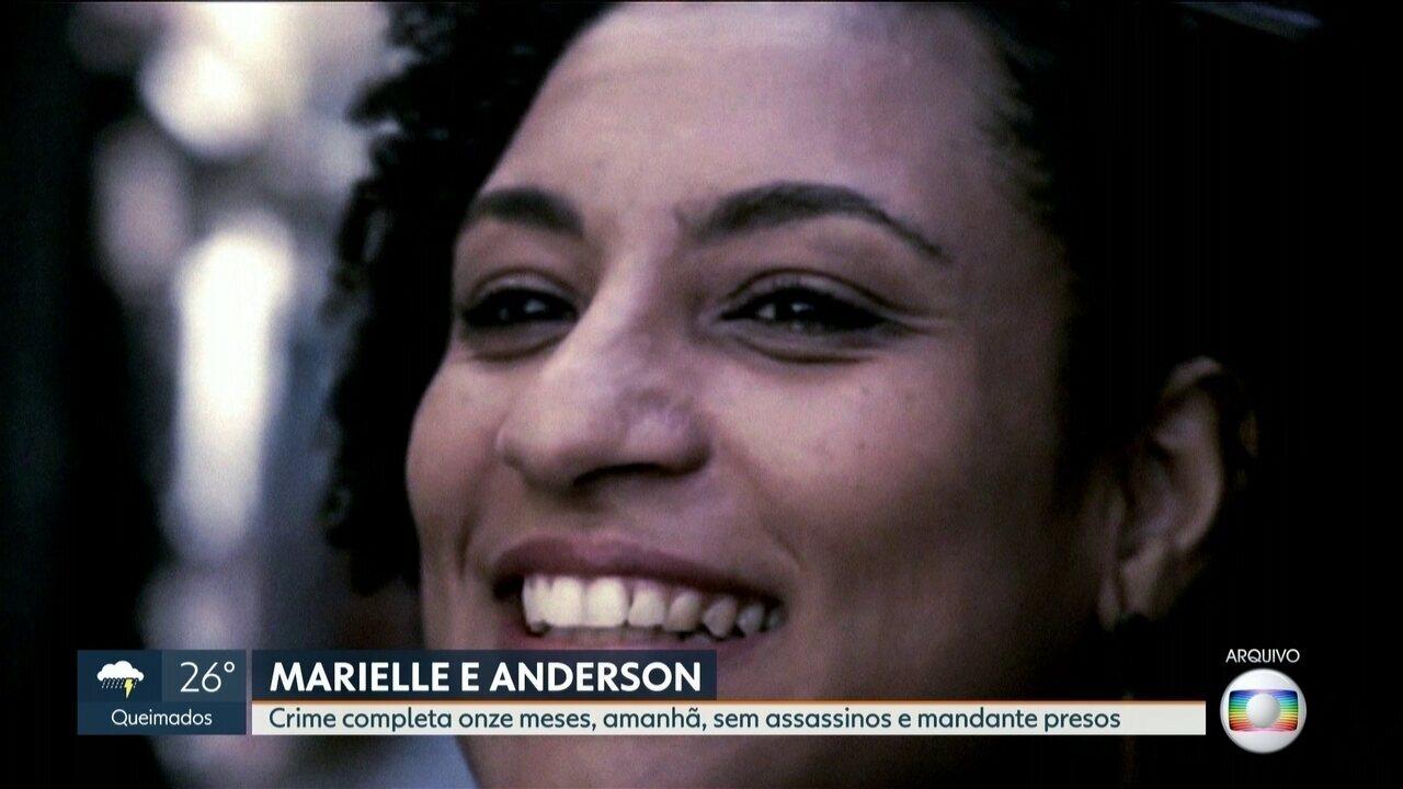 Mortes de Marielle Franco e Anderson Gomes completam 11 meses sem respostas