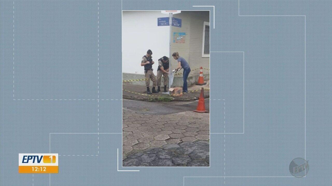 Ossada é encontrada dentro de caixa no Centro de Pouso Alegre (MG)