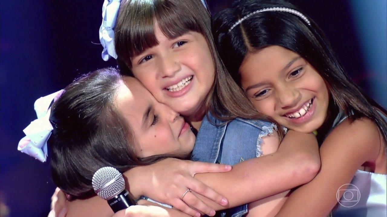 Ana Clara Rodrigues, Laura Pessanha e Maria Clara Nery cantam na fase de batalha