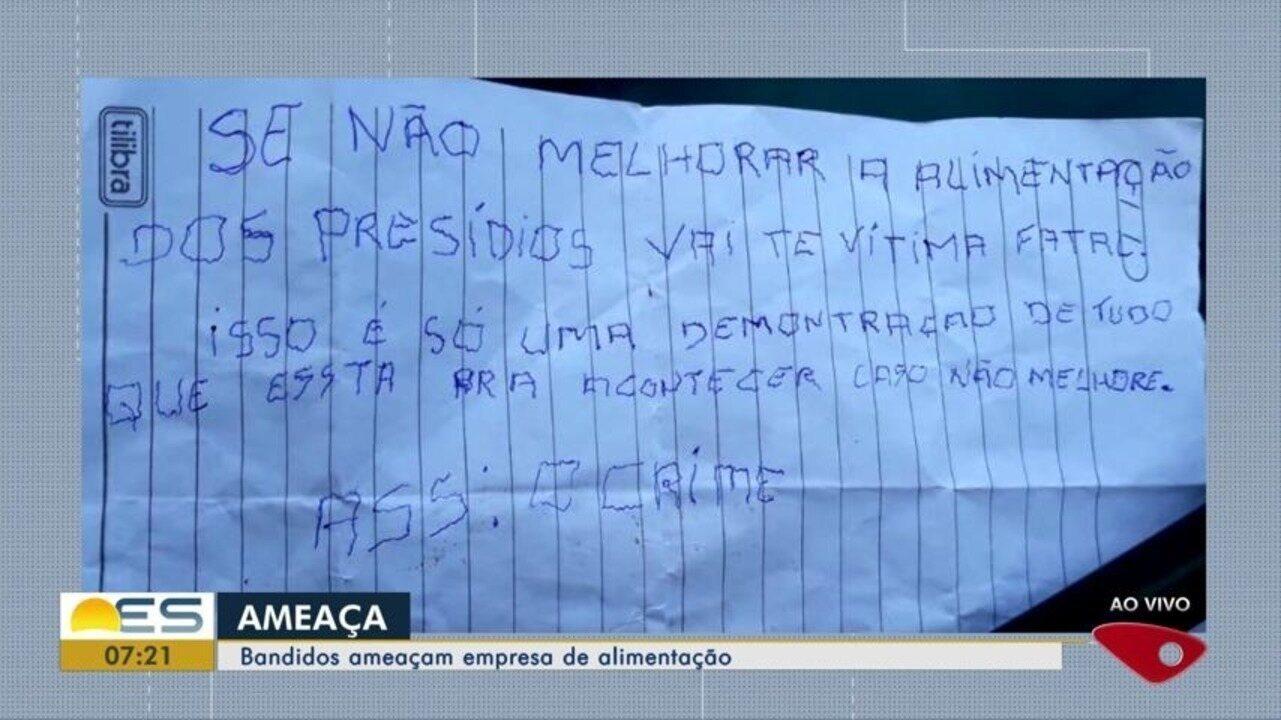 Criminosos ameaçam empresa de alimentação na Grande Vitória